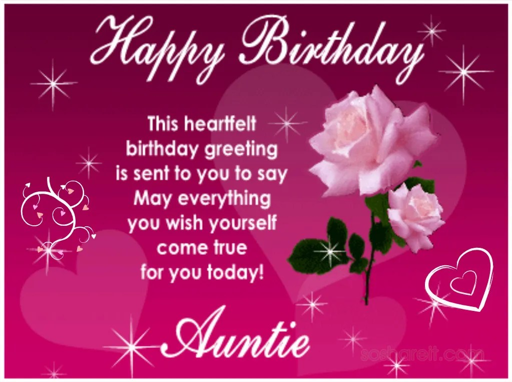 Top 50 Happy Birthday Wishes For My Aunt Wish Love Quotes