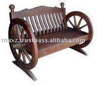 Wagon Wheel Bench-A