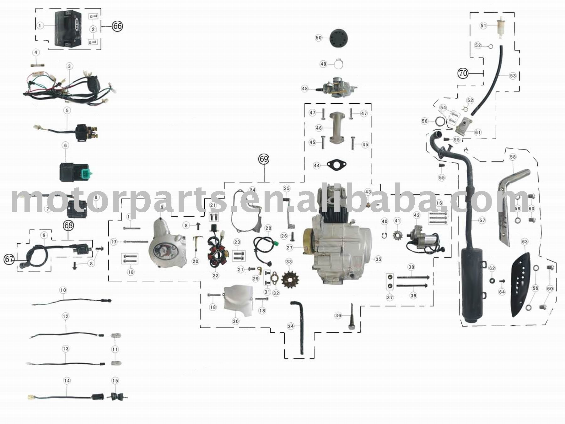 3050c atv 110cc engine diagram  parts  auto parts catalog