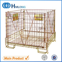 Coca cola preferred wire mesh pallet cage for pet bottles