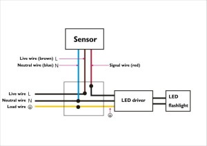30 watt led motion detector light pic or wires