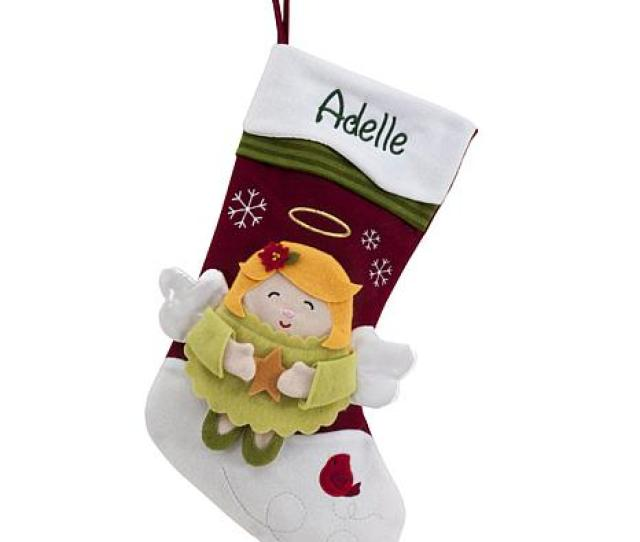 Personalized  Snowcap Character Stocking Angel