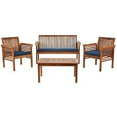 safavieh carson 4 piece outdoor set
