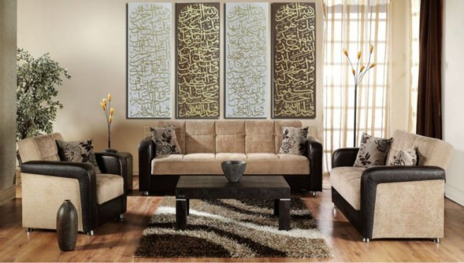 Home Improvement Style Free HongKong air mail Modern Islamic Panel Oil painting on Canvas