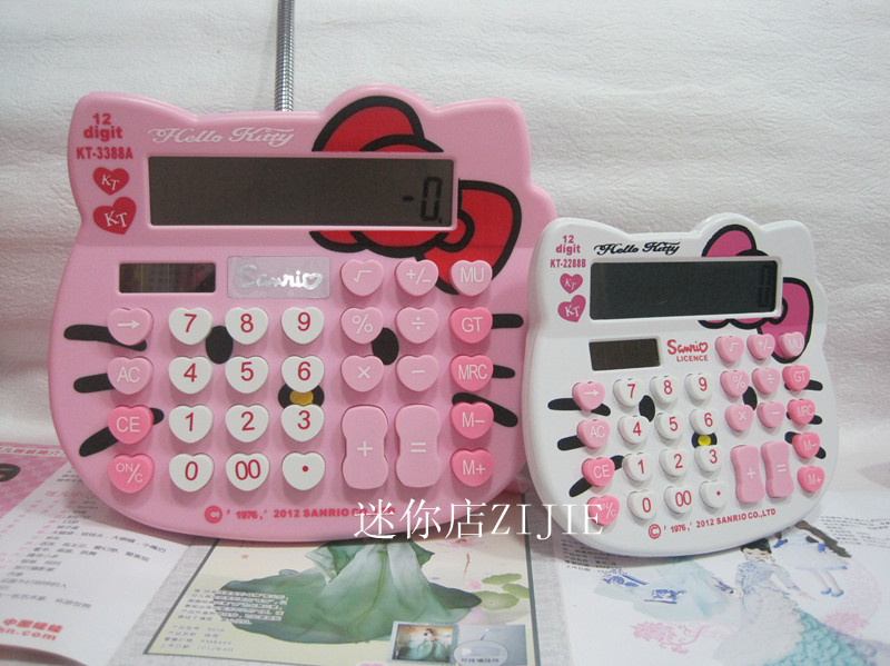 Hello kitty calculator kt cat cartoon computer owl solar calculator kt-2288a(China (Mainland))