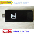 Bluetooth ile Siyah Yeni Geliş GK802 Freescale Dört Çekirdekli TV Stick Mini PC Cortex A9 TV Box Dongle