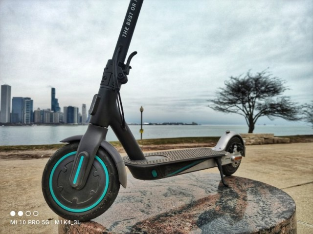 Playing around with the #MiElectricScooterPro2 Mercedes-AMG Petronas F1 Edition