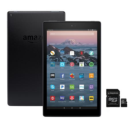 """Amazon Fire HD 10"""" 32GB Alexa-Enabled Tablet w/SD Card & Case Voucher"""