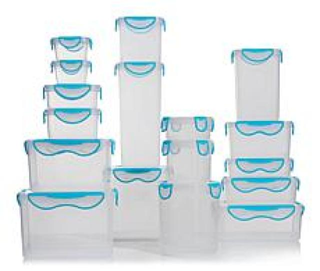 Clipfresh 34 Piece Plastic Food Storage Container Set