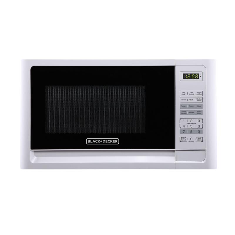 black decker 1 1 cubic foot microwave in white
