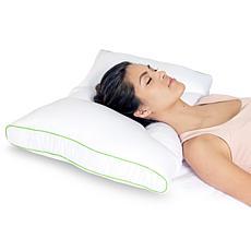 sleep yoga dual sleep neck pillow medium firm