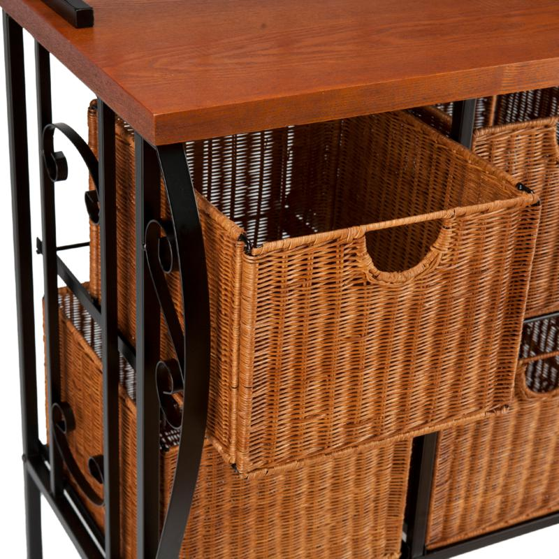 ryde iron and wicker baker s rack