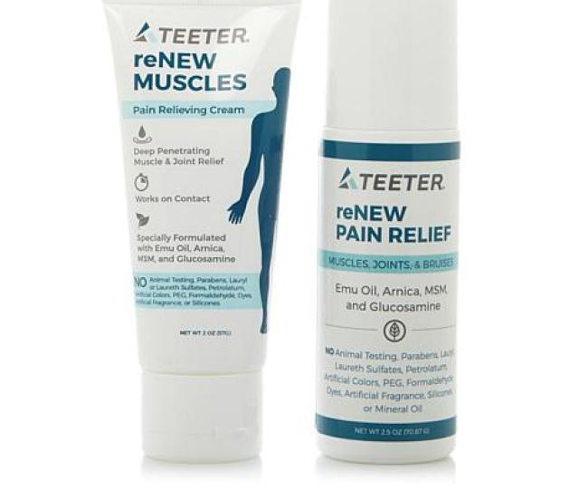 Teeter Renew Muscles Pain Relieving Cream And Roll On