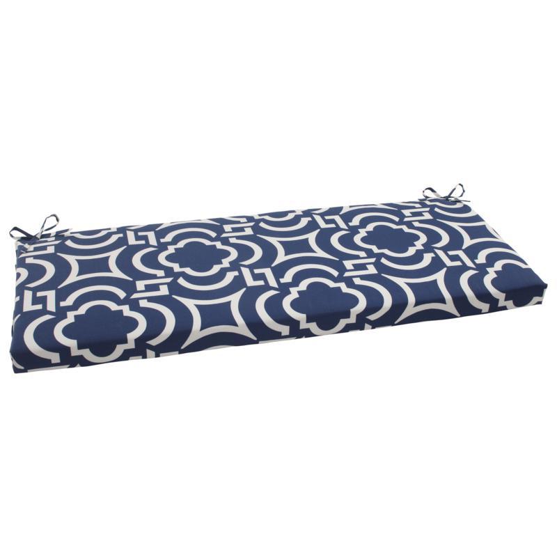 pillow perfect outdoor carmody bench cushion navy