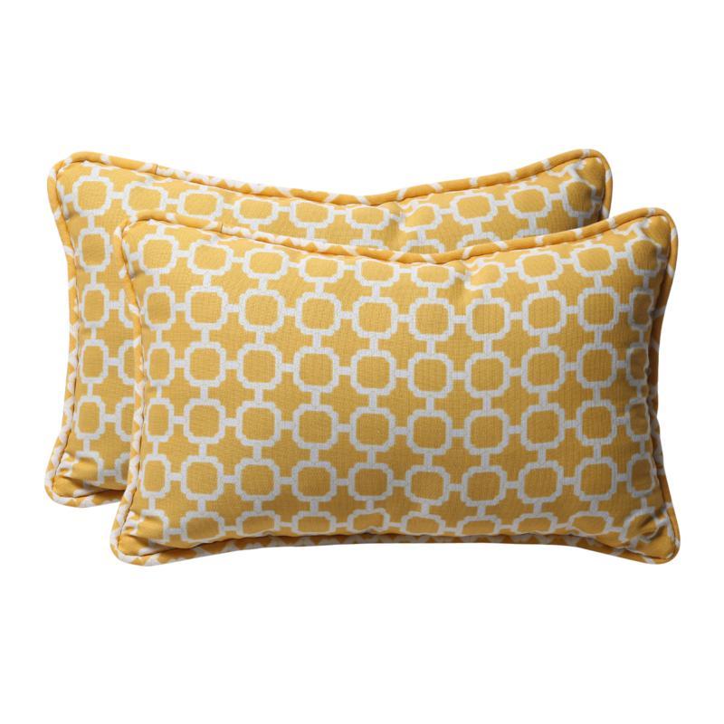 pillow perfect set of 2 outdoor hockley rectangular throw pillows yellow