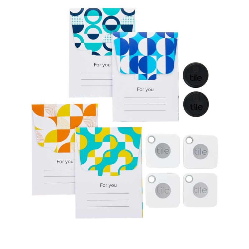 tile mate 4 pack and sticker 2 pack gift set