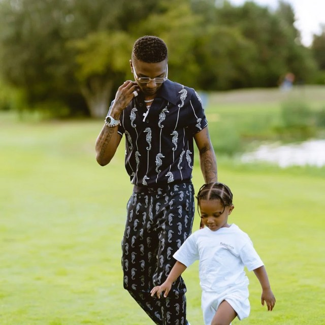 Wizkid And His Son Enjoy Adorable Father And Son Moment