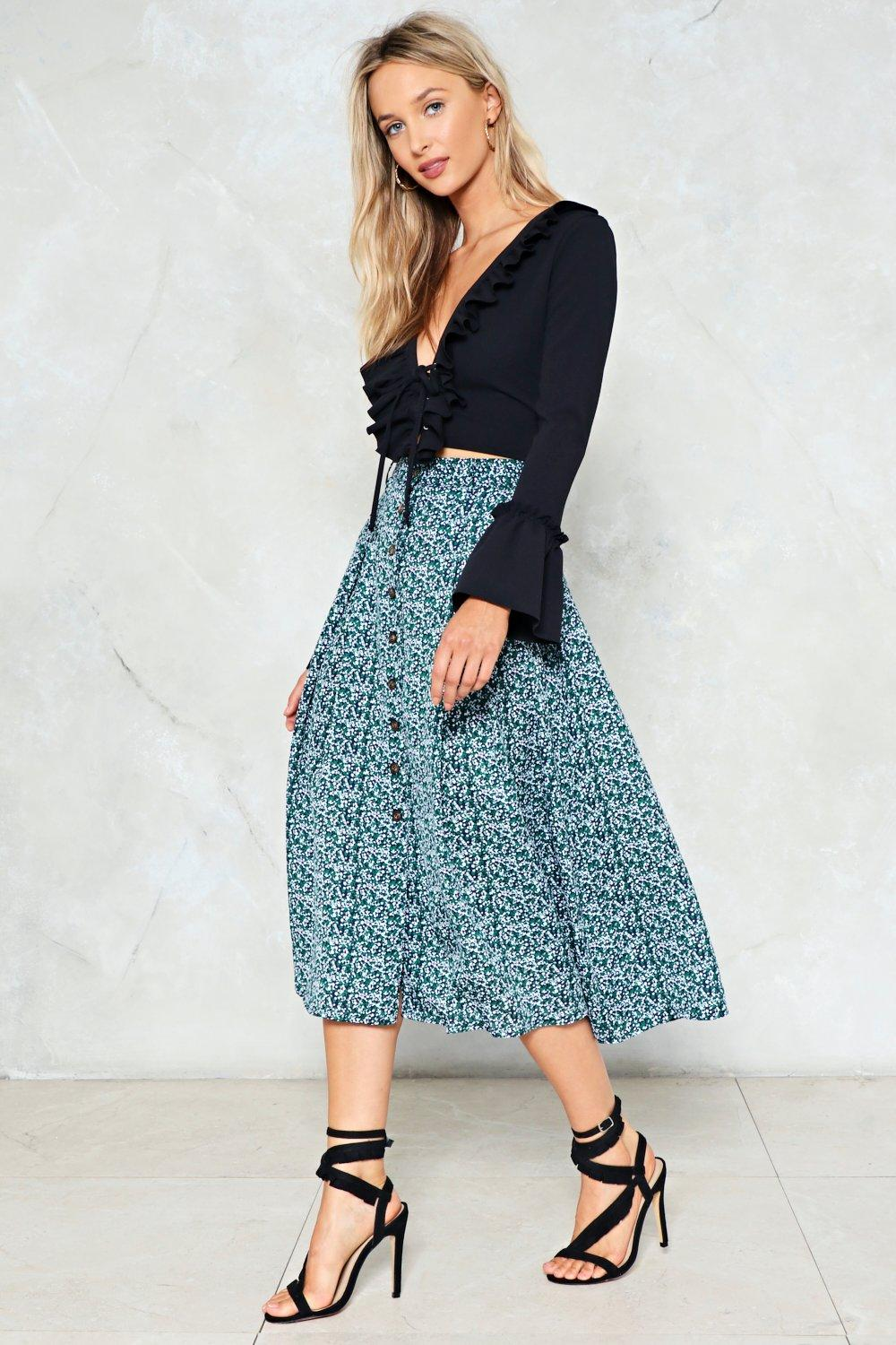 1f091c681 Search High And Grow Floral Skirt Shop Clothes At Nasty Gal!