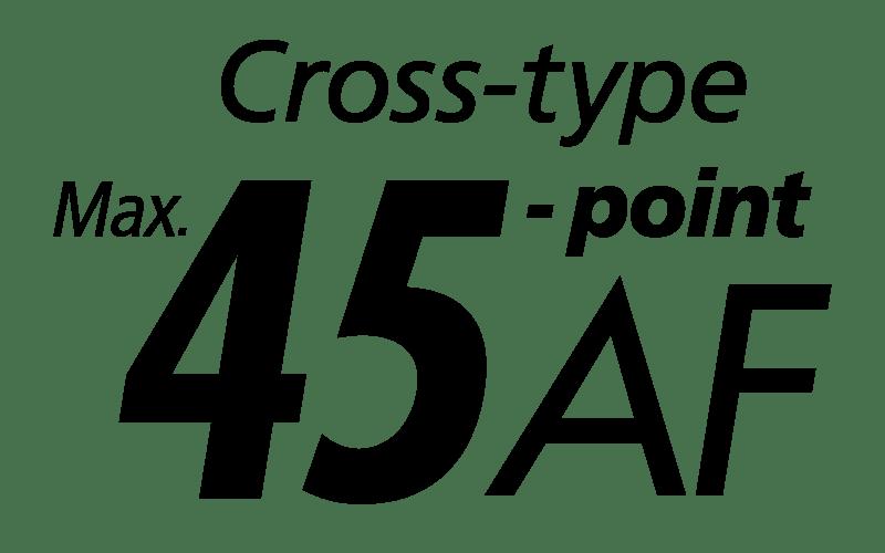 Canon EOS 90D 45 cross type AF points