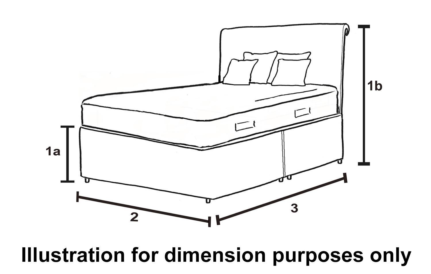 Dfs Relax 4ft 6 Double Leather Bed Frame And Memory Foam