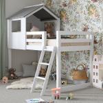 White Midsleeper Cabin Bunk Bed Dreams