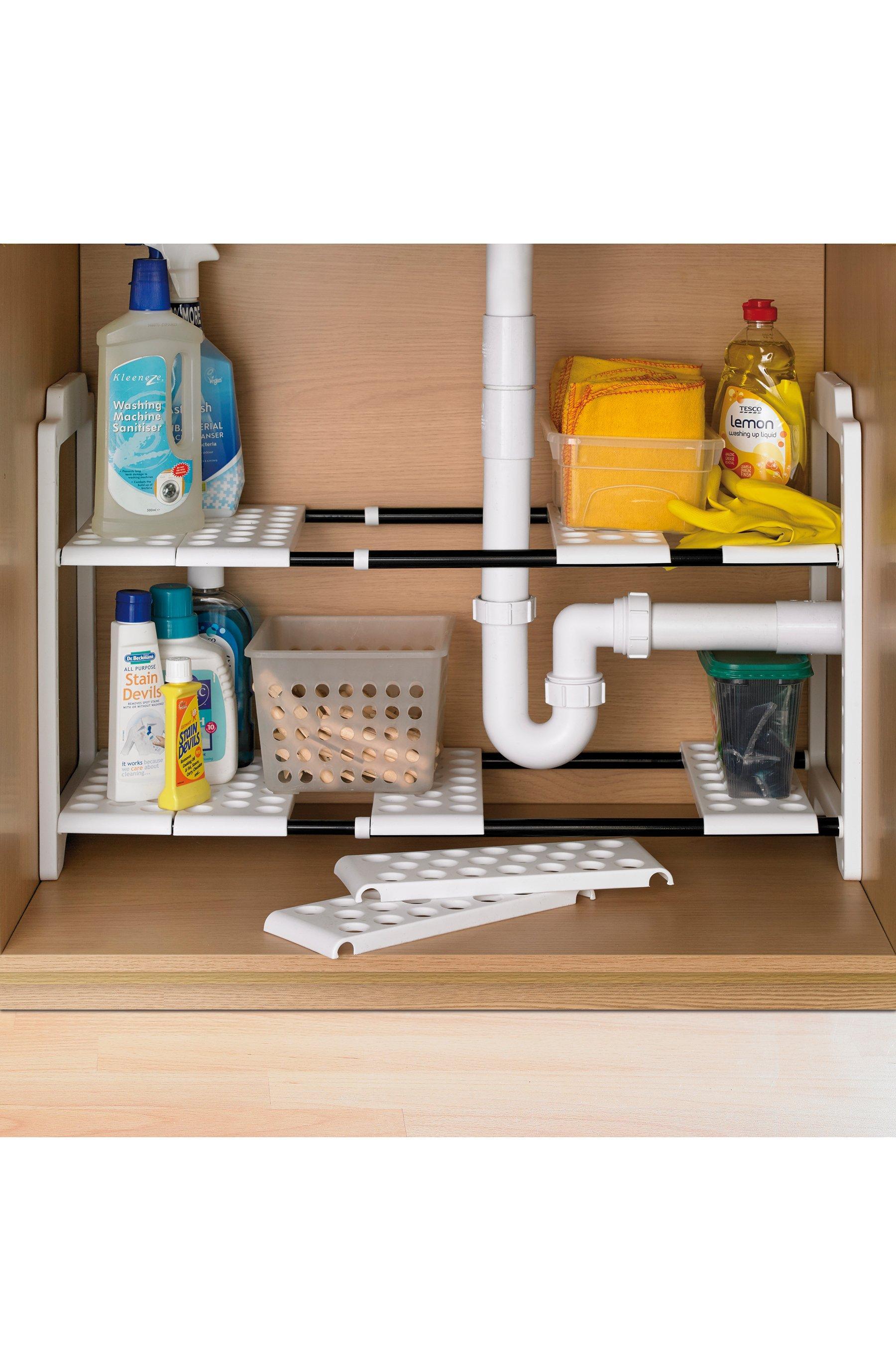 white under sink storage set