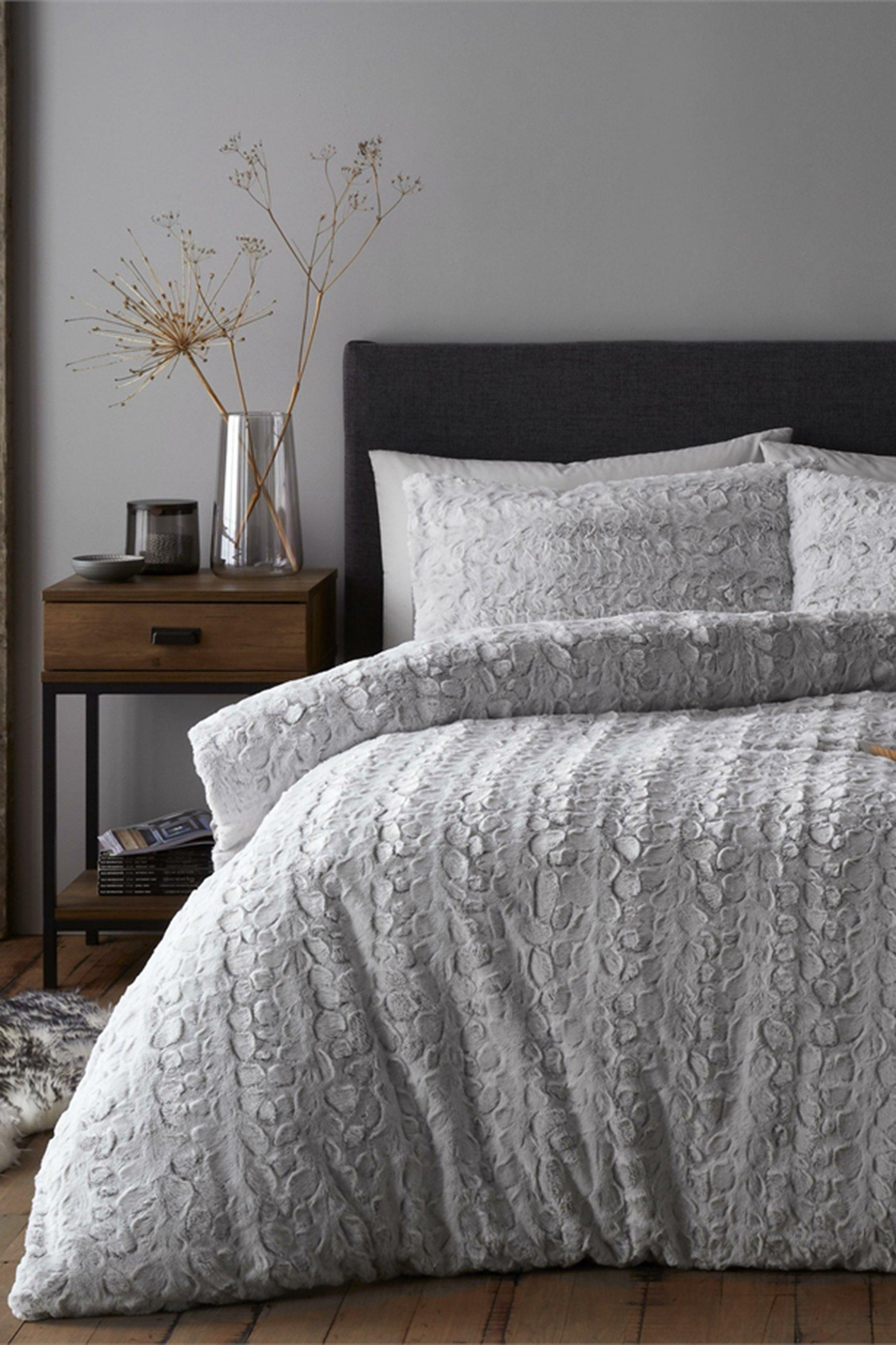ultra cosy luxury faux fur duvet set