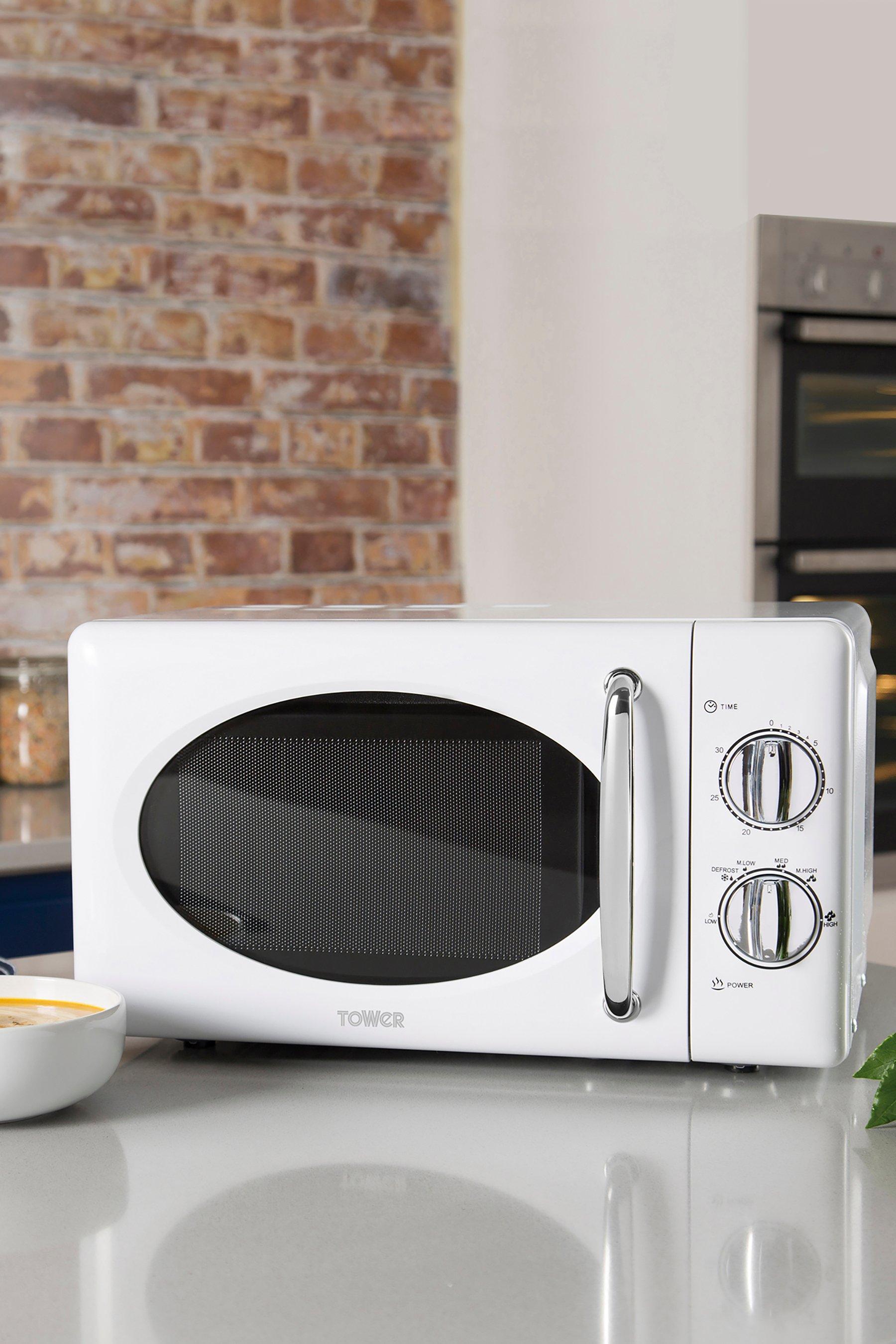 tower 800w retro microwave