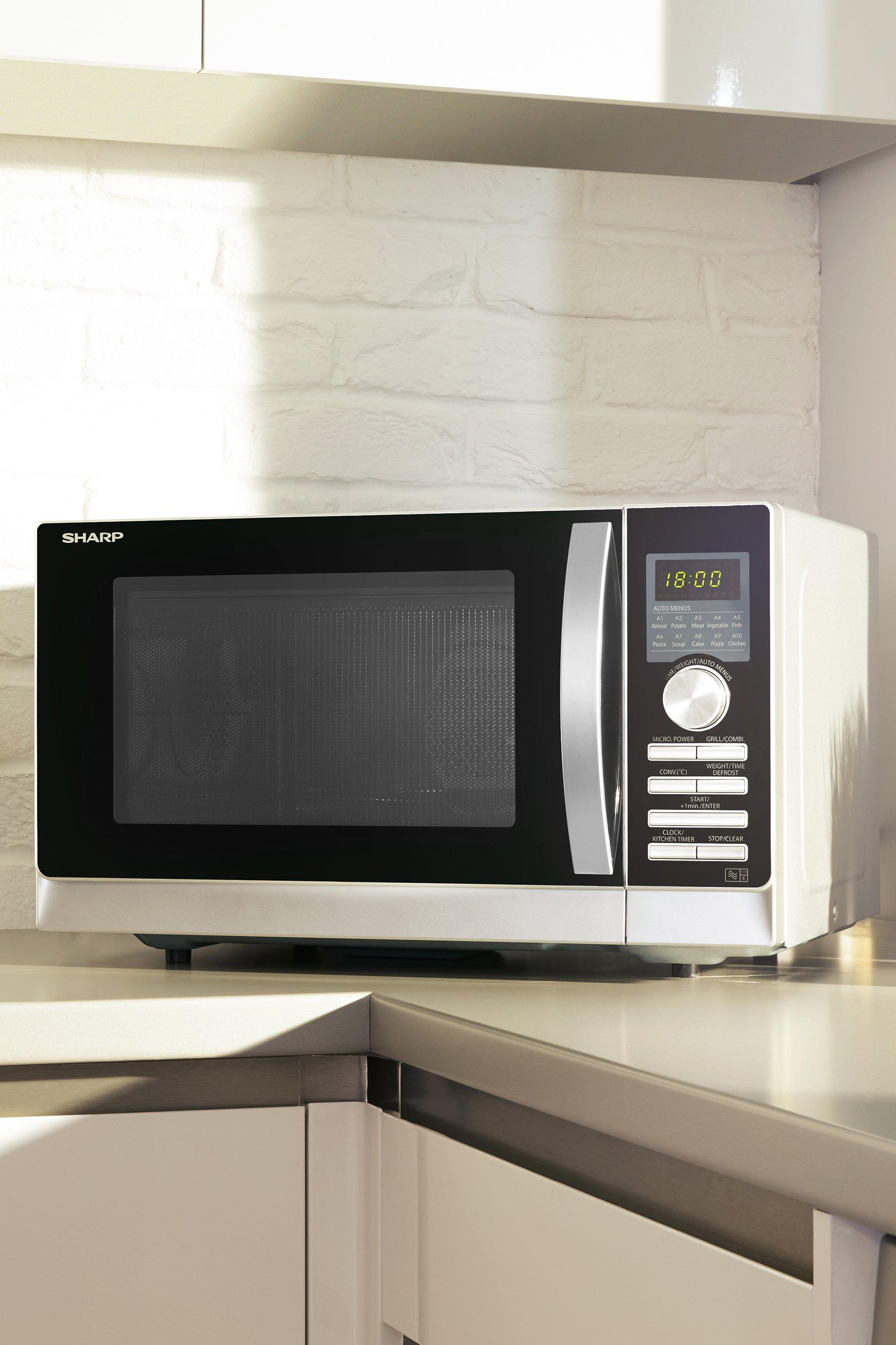 sharp 25l 900w digital convection microwave with double grill