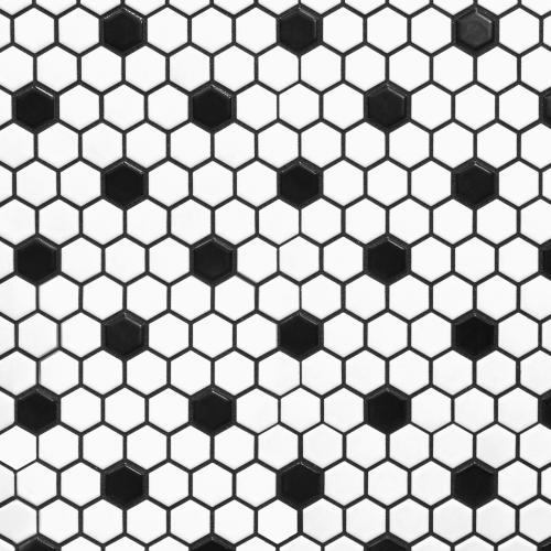 home improvement black glossy hexagon