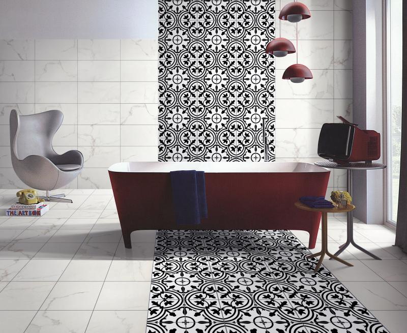 Bathroom 2 Bayona Deco Ceramic Tile Amelia White New Room