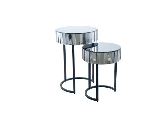 glass side tables round square