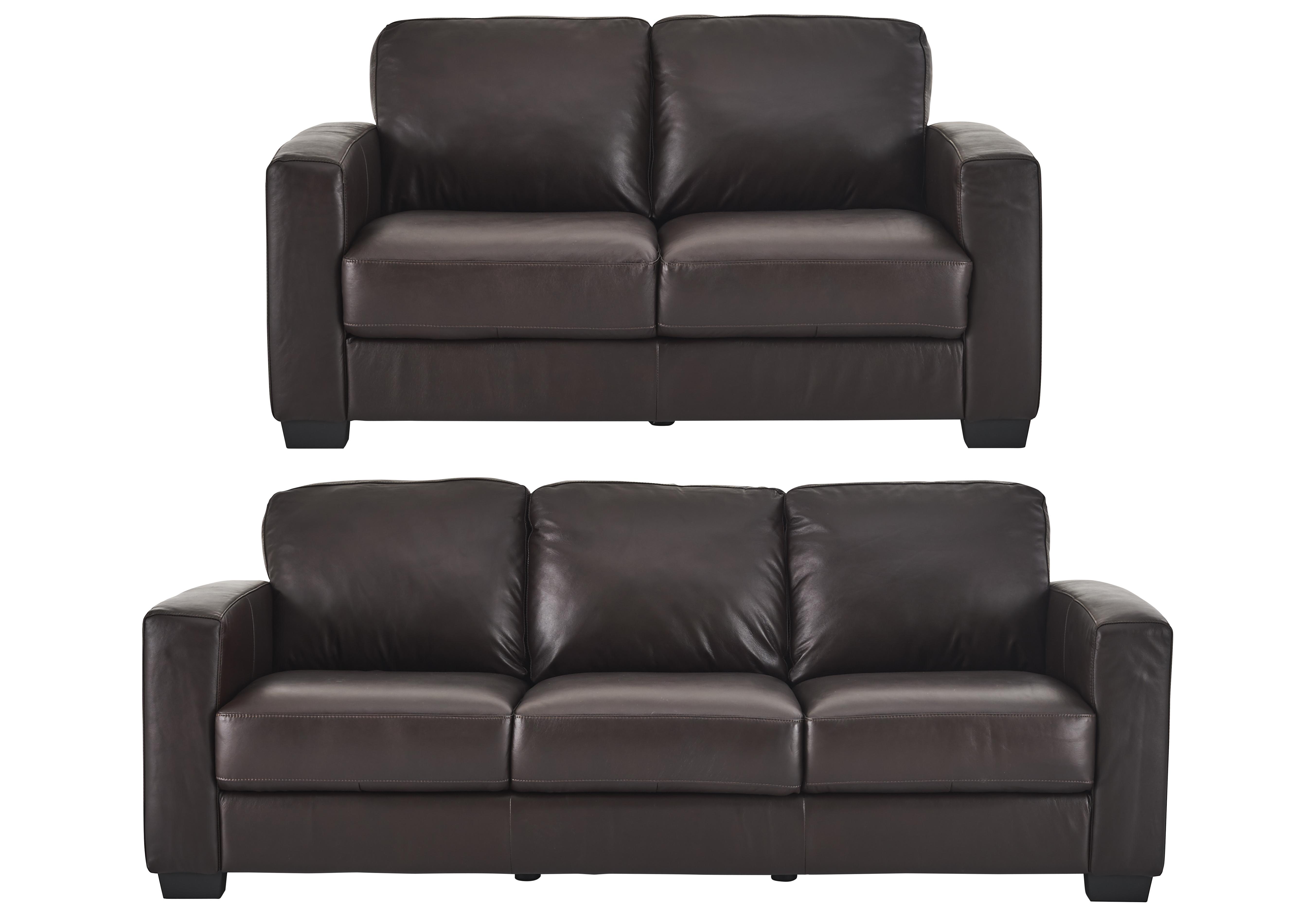 Dante 3 2 Seater Leather Sofas Furniture Village