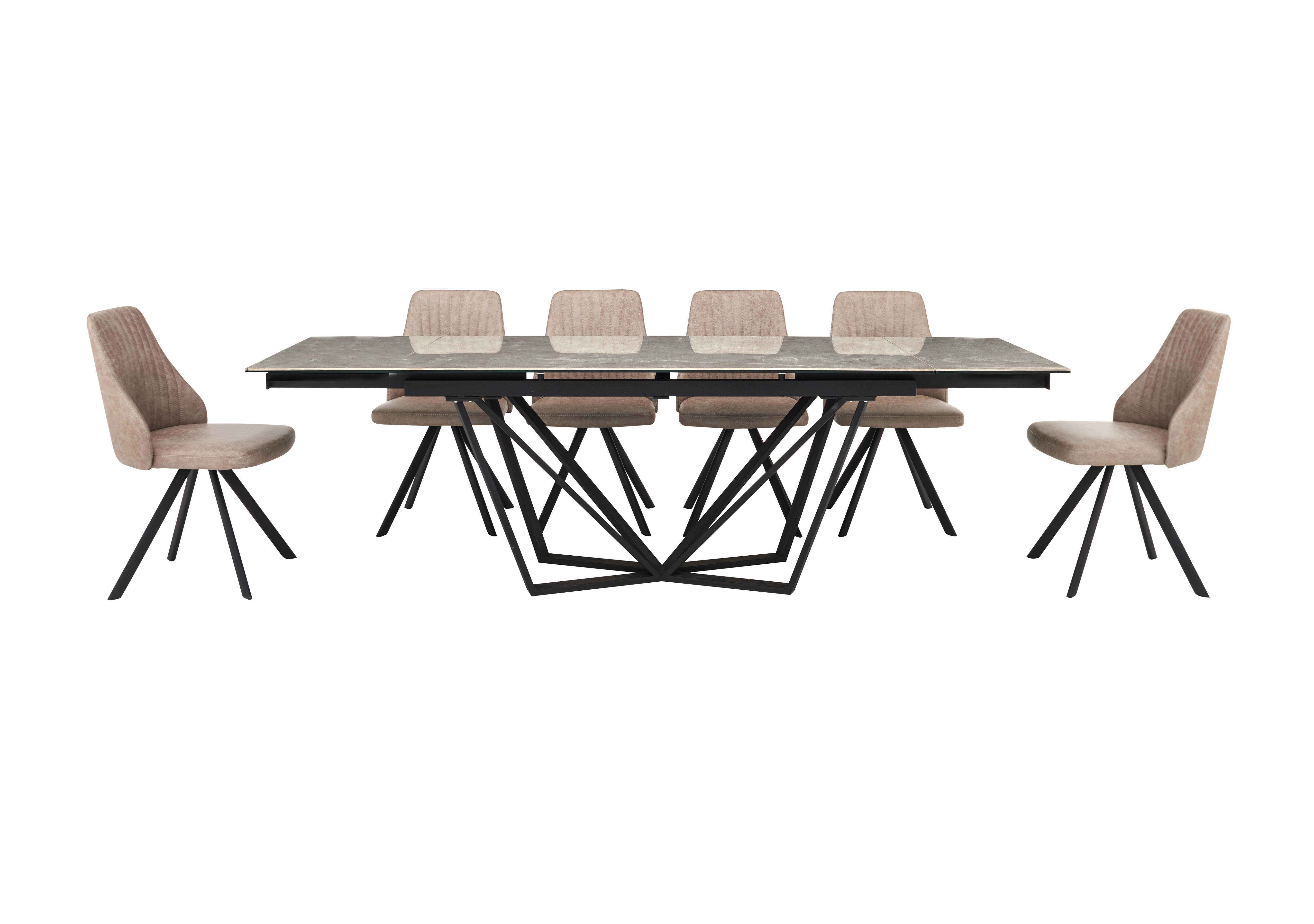 Aquila Extending Dining Table And 6 Swivel Dining Chairs Furniture Village
