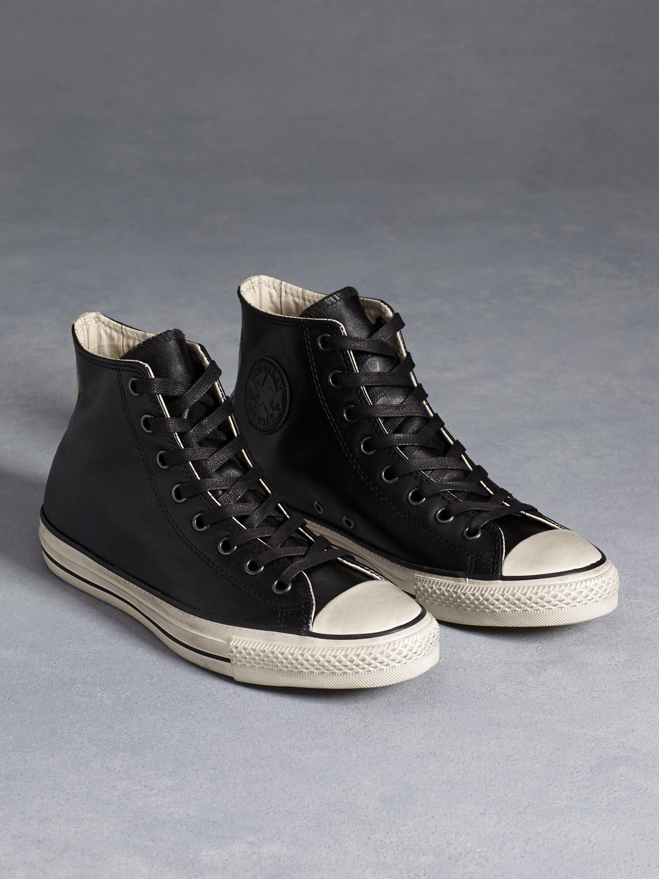 All Star Burnished Leather Chuck Taylor in Black