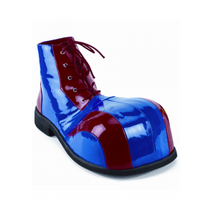 Blue and Red Clown Shoes