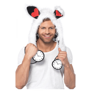 White Rabbit Furry Hood Hat