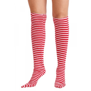 Red and White Witch Socks