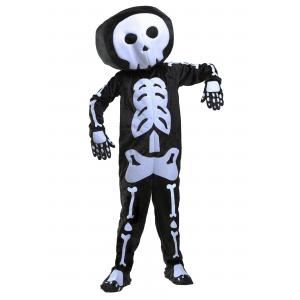 Plush Skeleton Costume for Boys