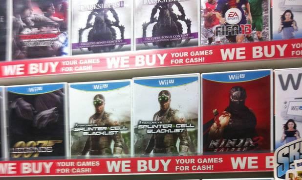 Splinter Cell Blacklist Wii U pre-order boxes up in GameStop in Ireland