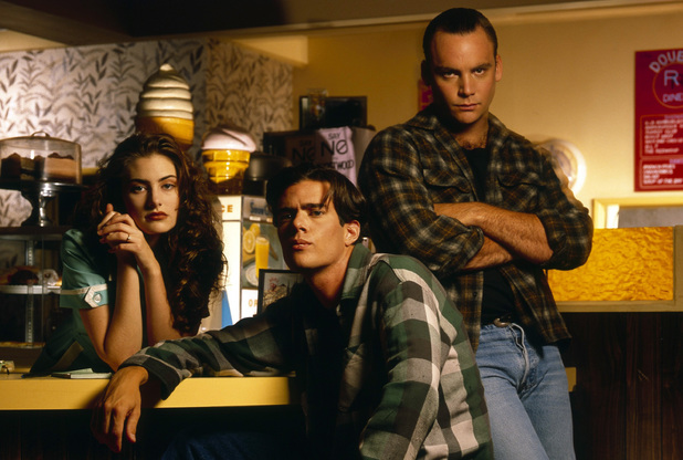 Madchen Amick, Dana Ashbrook and Eric Dare in Twin Peaks