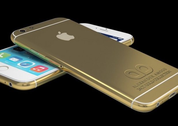 Gold-plated model of the iPhone 6