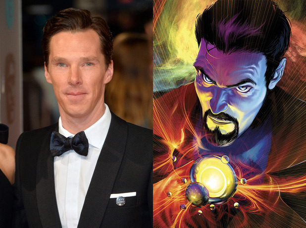 Benedict Cumberbatch/Doctor Strange split image