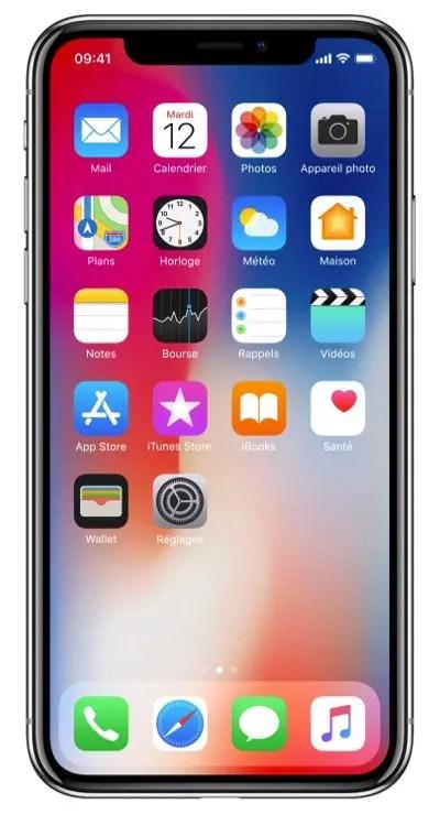 iPhone X écran sans fin