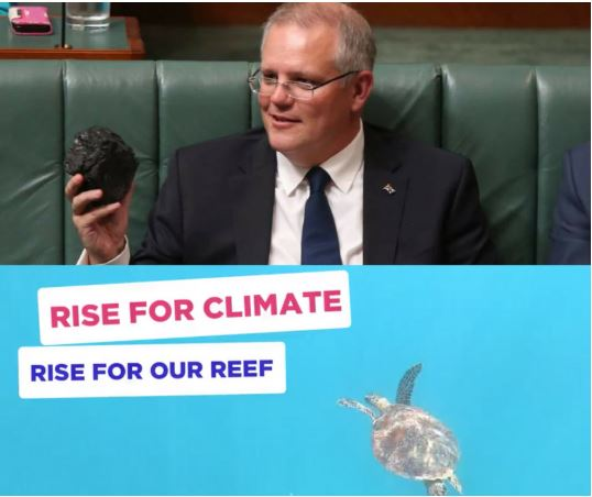 Coal in parliament? No way! Let's rise for climate, rise for our Reef!