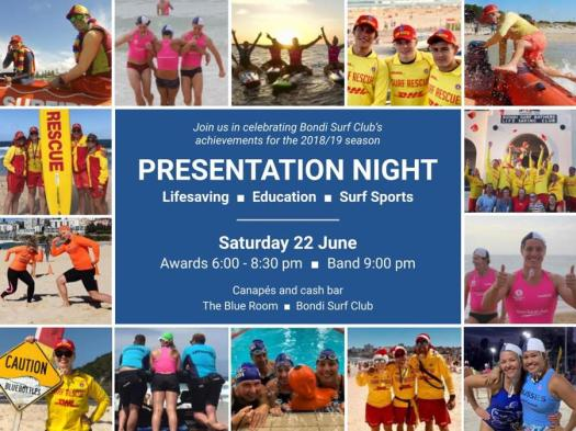 Club Presentation Night is on 22 June