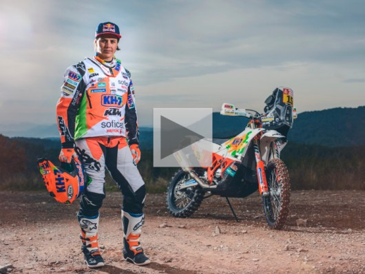 Laia Sanz rides with Red Bull Desert Wings at the 2018 Dakar Rally