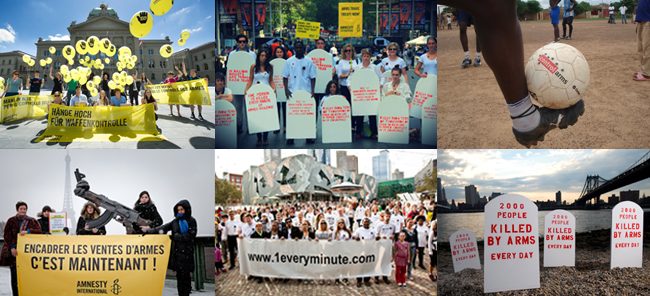 Images of 20 years of Arms Trade Treaty campaigning from around the world