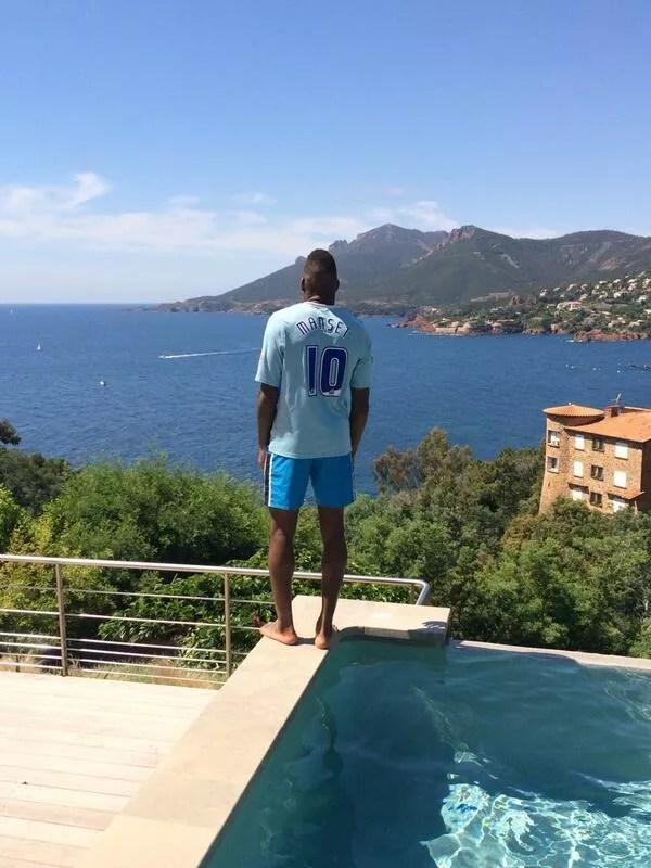 Mathieu Manset still wearing his Sky Blues shirt