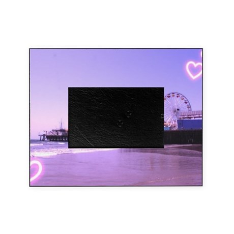 Purple Hearts Pier Picture Frame
